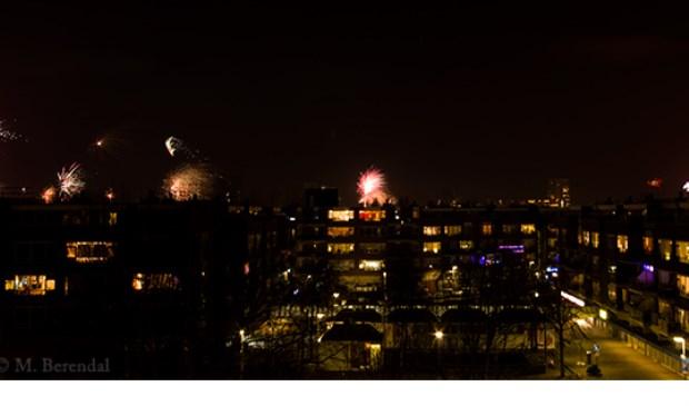 Vuurwerk boven Houtwijk. (Foto: Michelle Berendal)
