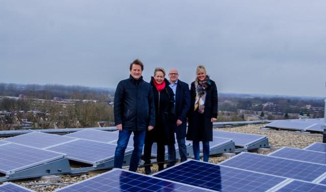 In de laatste maanden van 2017 plaatste Woonstede 1.689 zonnepanelen op veertien hoogbouwflats in Ede.