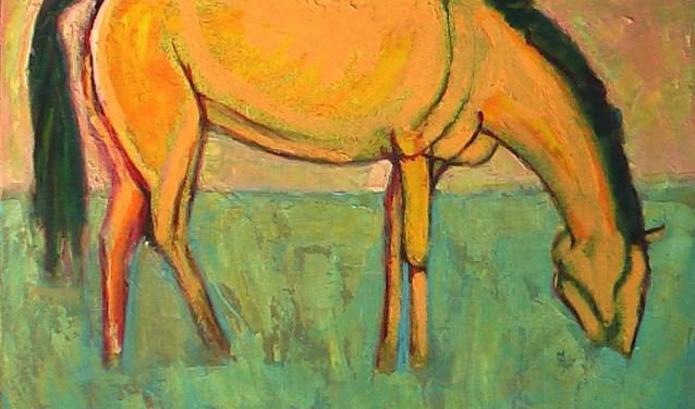 'Groot geel paard' van Jan Pieters is te zien in Hellevoetsluis.
