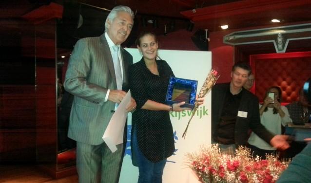 Sportvrouw 2017 Melanie Vennik met Harry Ballemaker (eigenaar Sir Winston)