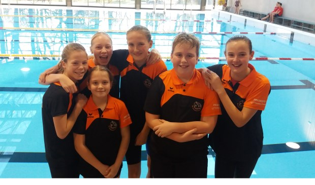 De Biesboschzwemmers namen aan twee evenementen deel. Eigen foto