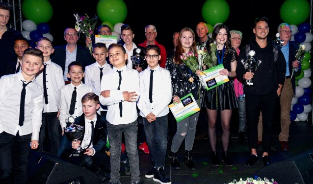 De winnaars van het Zwijndrechtse sportgala.