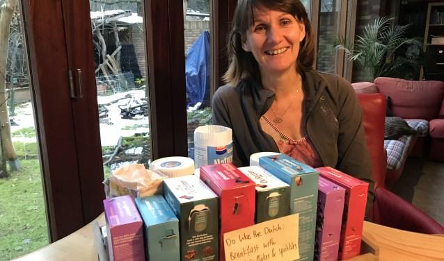 """Dorien maakt voor haar gasten enthousiast reclame voor Wijchen en omgeving: """"Wijchens groene omgeving, de fietspaden en natuurlijk hagelslag op brood, dat valt woningruilers echt op!"""""""