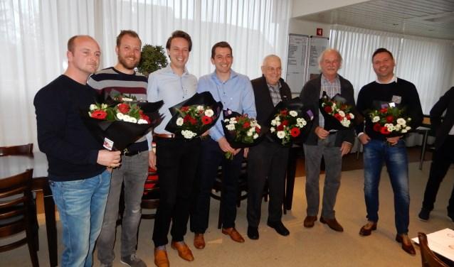 Patrick de Keijzer, Jerry Dellemann, Rik Pelgrim, Ronald Zwaan, Christiaan Willemsen, Henk Loos en Jan Leenders zijn onlangs in het zonnetje gezet. (foto: PR)