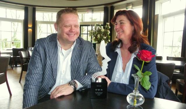 Ondernemerskoppel Michel Wenzel en Marjon Vermeulen staan samen aan het roer van Thearent. Zij wonnen met hun bedrijf de verkiezing Onderneming van het Jaar van VOA.