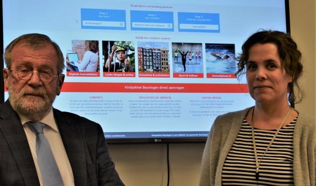 Wethouder Jan Kersten en beleidsmedewerker Sarah Albers.