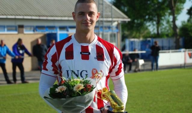 Vincent Griffioen speelt volgend seizoen weer in het roodwit van Geinoord. De snelle aanvaller vindt ''twee jaar DHSC'' voldoende. Foto: Thijs Middelkoop.