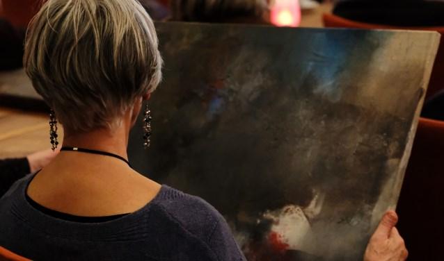 Men mocht de schilderijen van nabij te zien en aanraken