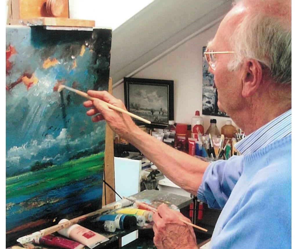 Jan van Munster in zijn atelier