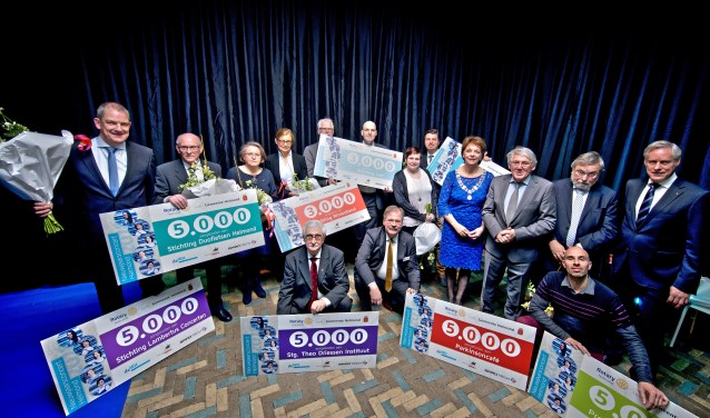Stichting Helmond Ontvangt - Helmond Geeft hield voor de dertiende keer haar Nieuwjaarsconcert dat veel geld opleverde voor 8 Helmondse maatschappelijke en culturele doelen.