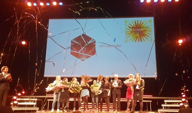 De Rijswijkse vrijwilligers werden flink in het zonnetje gezet.
