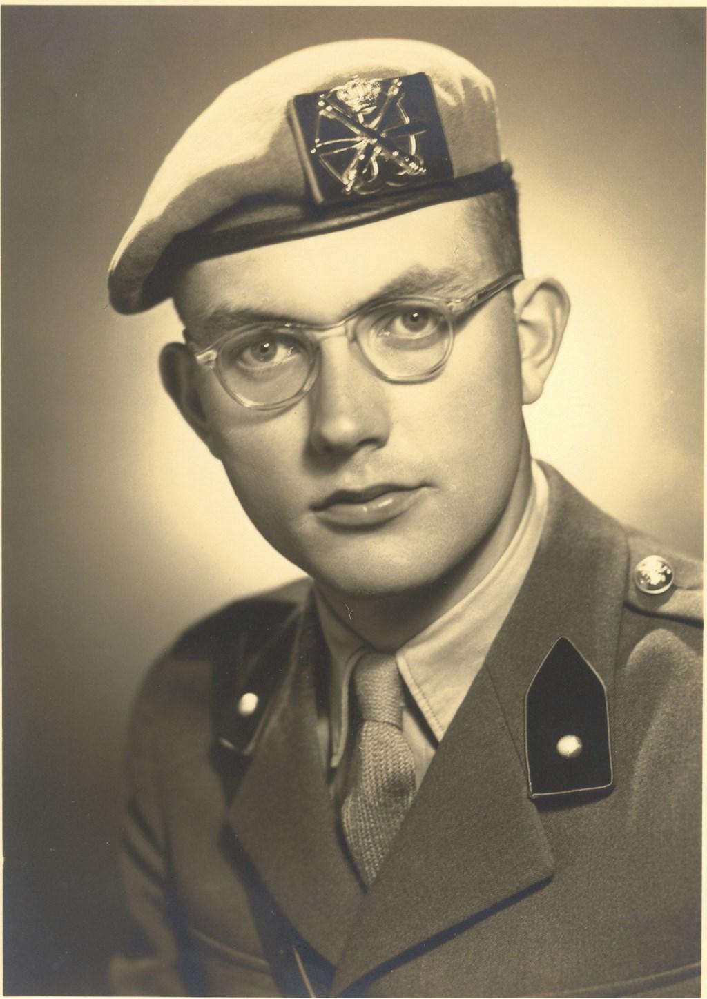 De 22-jarige Willem Passenier was in het weekeinde van zondag 1 februari 1953 met verlof bij zijn ouders op de Noordweg in Sint Laurens. FOTO: PR