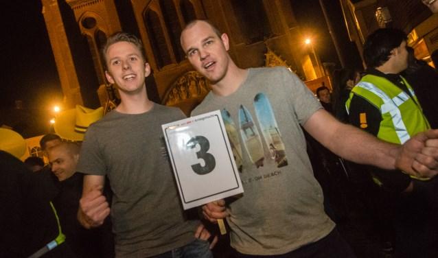 Joris en Robert Verkerk bemachtigden plek drie tijdens de proloog. (foto: Arjan Broekmans)