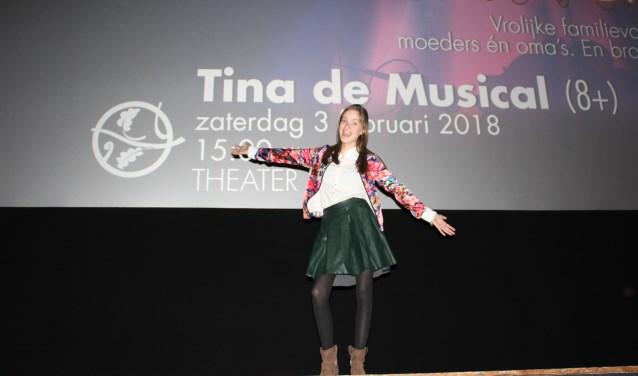Lieke ziet haar toekomst zeker in de musicalwereld, voor of achter de schermen. FOTO: Lydia van der Meer