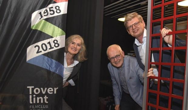Heidi Jonker, Wout Beute en Drees Brunt van filmclub Toverlint. Foto: Marianka Peters