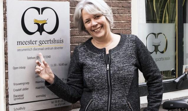 """Marianne Kok volgt Ceciel Funnekotter op. ,,Ook ik wil er alles aan doen om de vrijwilligers te ondersteunen. Zíj maken de vele activiteiten mogelijk."""" (foto Auke Pluim)"""