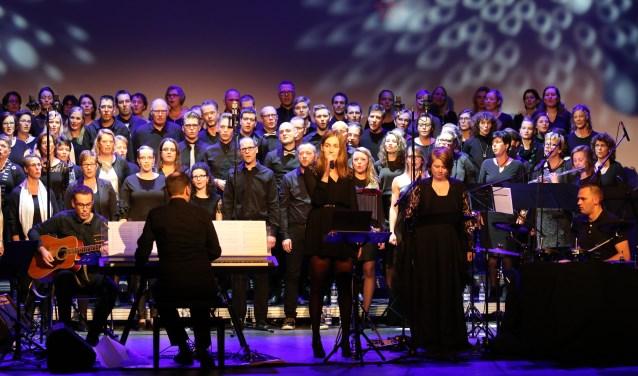 Gospelkoor Shine tijdens het kerstconcert van afgelopen jaar.
