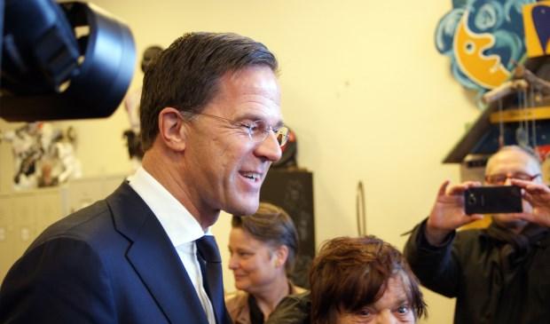 De Dagloners waren zichtbaar verguld met de komst van minister-president Mark Rutte aan hun project in Almelo