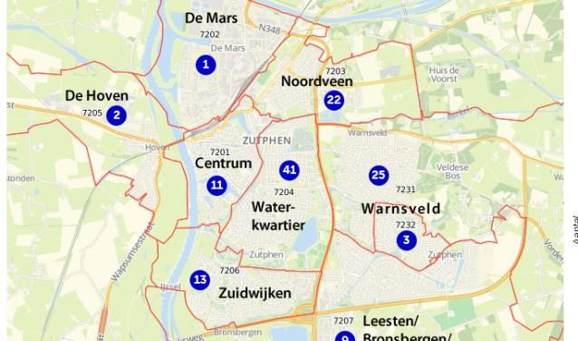 Inbraakcijfers Zutphen in 2017
