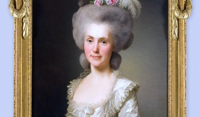 Een deel van een schilderij van Alexander Roslin met Marie Puissant (1745-1828) in de hoofdrol. Foto: Rijksmuseum Twenthe