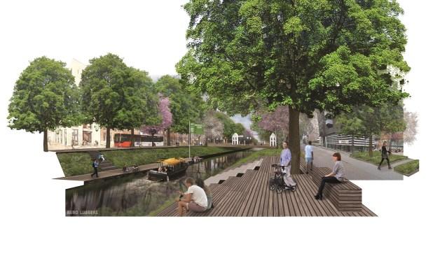 Impressie van het Zuid-Willemspark bij het Gasthuiskwartier langs de Gervenstraat. Voordat binnenkort aan de plannen begonnen wordt, is op 17 januari een inloopavond in Nieuwehagen, bedoeld voor omwonenden en belanghebbenden. Meer info staat op www.zuid-willemspark.nl.