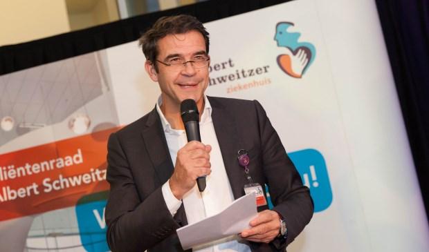Peter van der Meer: 'Het ASz wil zijn zoals de mens en dokter Albert Schweitzer.' (Foto Frederike Slieker)