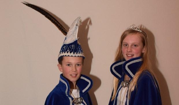 Jeugdprins Florian en jeugdprinses Veerle.