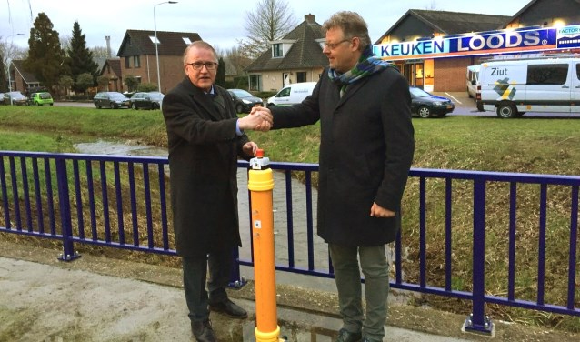 Jos Sluiter en Peter Drenth op de grens van Terborg (Oude IJsselstreek) en Gaanderen (Doetinchem).