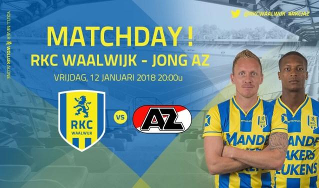 RKC Waalwijk neemt het vrijdag in eigen huis op tegen Jong AZ. De aftrap is om 20.00 uur.