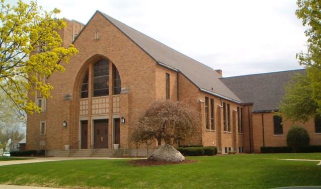 Exterieur Gereformeerde Gemeente Grand Rapids. Bron: L. Vogelaar.