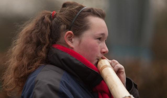 Amanda Donselaarvan Midwinterhoorngroep Eibergen mag zich een jaar Jeugdkampioen van Gelderland noemen.