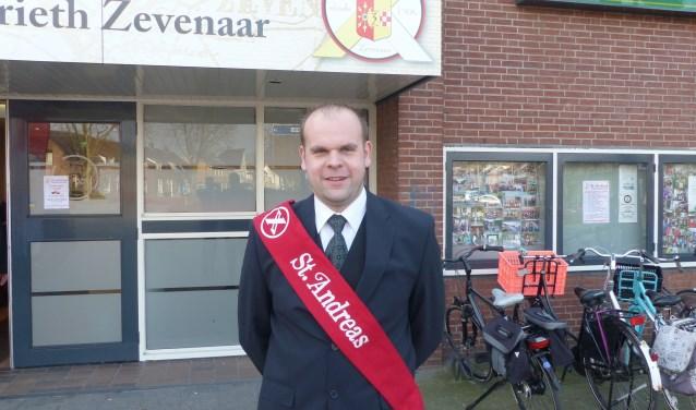 Het nieuwe bestuurlid van Schutterij St. Andreas 't Grieth-Zevenaar, Thijs Derksen.