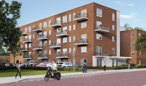 Een impressie van Vissershof, ontworpen door architectenbureau Rose en de Bie.