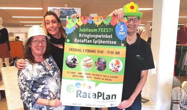 Kringloopwinkel Rataplan viert jubileumfeest. Foto: PR