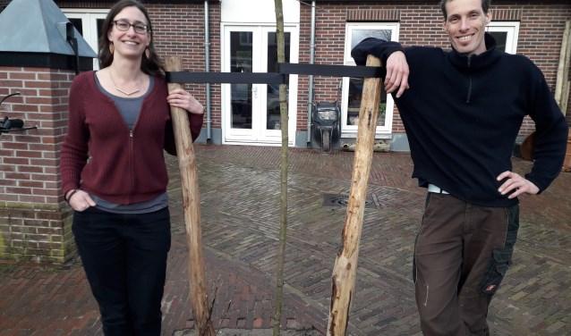Femke Batterink en haar partner Douwe Kappers uit Amerongen gooien hoge ogen om duurzaamste inwoners van Heuvelrug te worden.