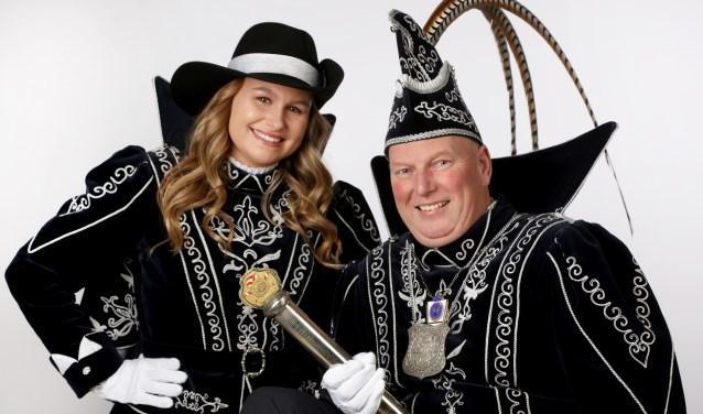 Prins Hein d'n Urste en Funkenmarieke Sharona. (Foto: Hans Barten)