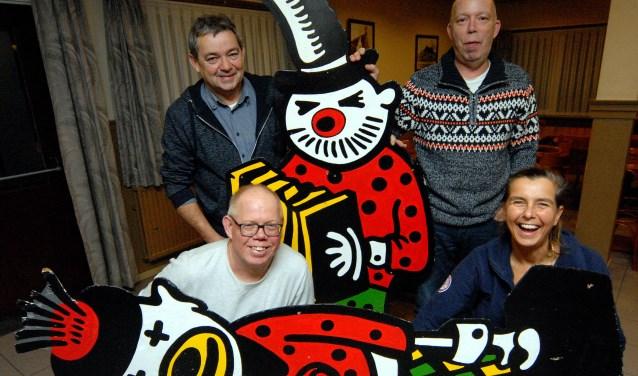 De vier buutreedners die in de buutton in Cuijk gaan schitteren (Foto: Tom Oosthout).
