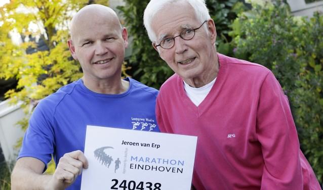 Jeroen en Piet van Erp uit Valkenswaard houden allebei van hardlopen. Foto: Jurgen van Hoof.