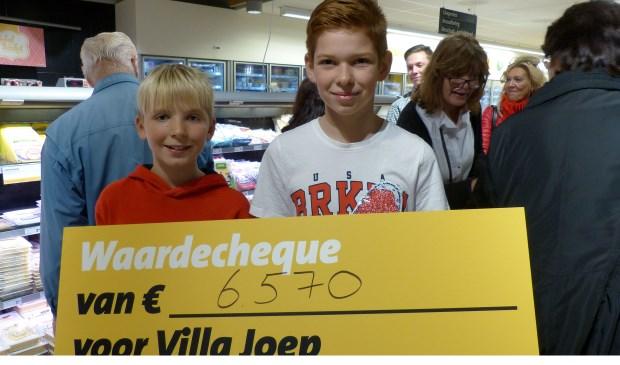 Bekendmaking eindbedrag Jumbo aktie Villa Joep - Spijkenisse. Foto: Roel van Deursen