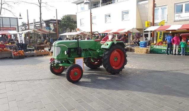 Een traktor mocht uiteraard niet ontbreken