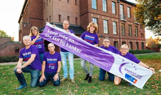 Van links af: Patrick Meekes, Bernarda Scharenborg, Geert Beijers, Marco Beckmans, Sandra Meekes, Harrie Garritsen en Gerti van Vree. Op de foto ontbreken Bernadet Putto en Anne Korten.