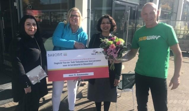 Mevrouw Sommandas won de hoofdprijs.