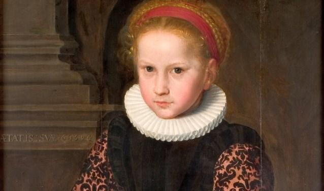 Een gedeelte van het schilderij van Jan Claesz: Meisje met kers. Foto: Collectie J.H. van Heek