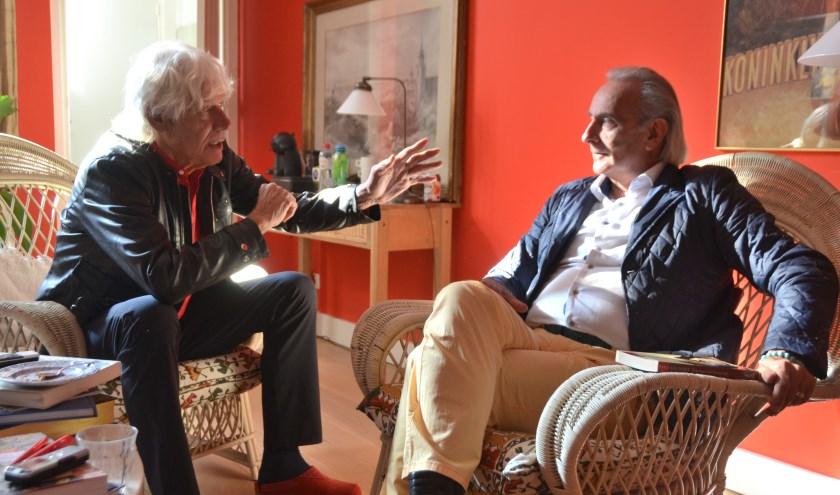 Paul van Vliet in gesprek met Martin Reitsma over zijn boek 'Brieven aan God en andere mensen'. Foto: PR