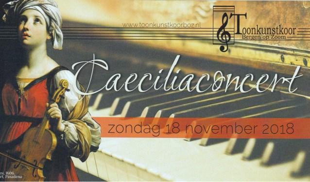 voorkant Flyer van het concert.