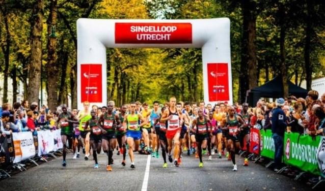 De 68ste editie van de Singelloop Utrecht is een prachtige overwinning geworden voor Davis Kiplangat. Foto: Singelloop