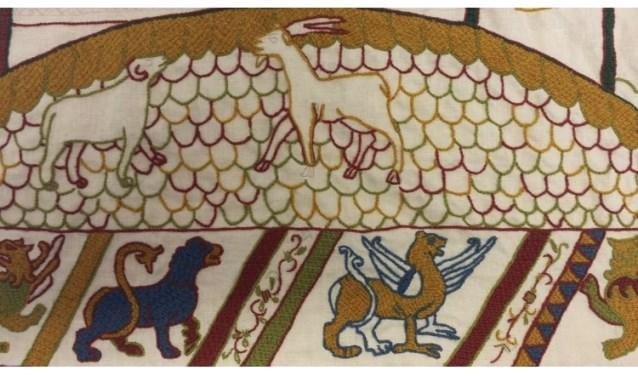 Detail van het 4e paneel van het Tapijt