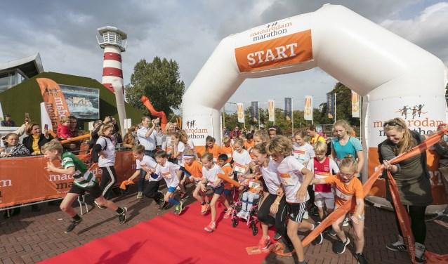 In totaal kwamen bijna 250 deelnemers aan de start van de Madurodam Marathon.