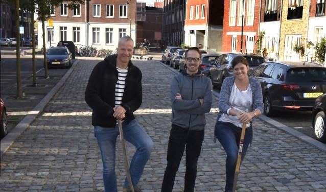 Koert Lugthart, Jeroen van Leuken en Evelien Ploos van Amstel. Foto: Marianka Peters