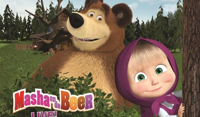 Na de voorstelling verlaten Masha en haar vriendjes het bos om met de kinderen op de foto te gaan in de foyer - foto: Animaccord LTD